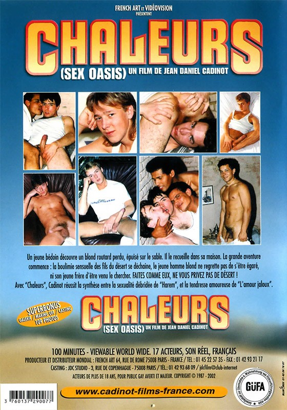 Chaleurs DVD - Back