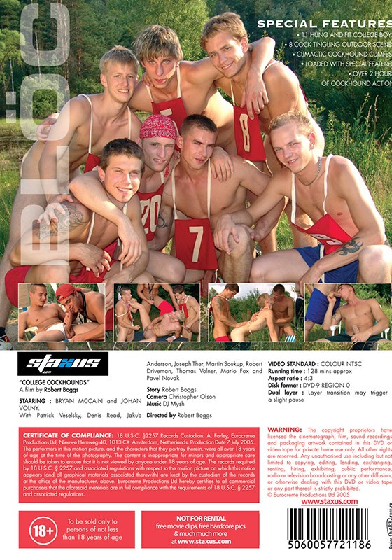 College Cockhounds DVD - Back