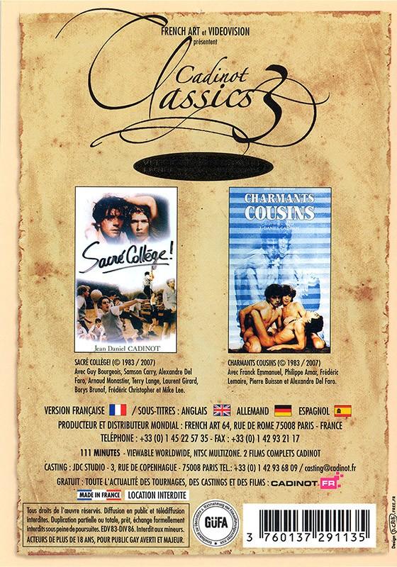 Cadinot Classics 3 DVD - Back
