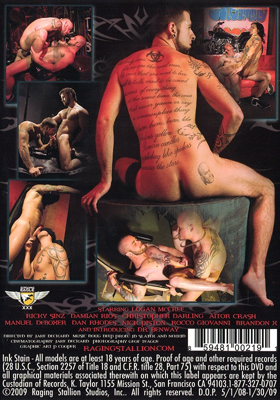 Ink Stain DVD - Back