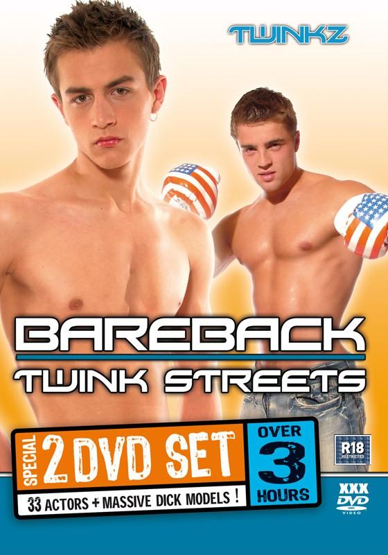 Bareback Twink Streets 2DVD Box Set - Front