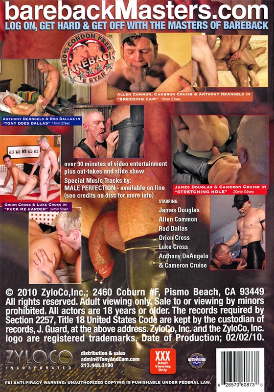 Bareback Motel San Francisco DVD - Back