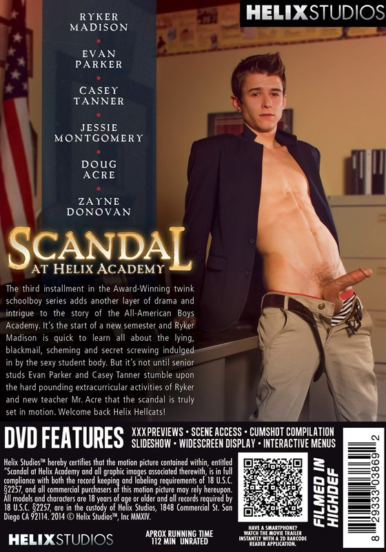 Scandal At Helix Academy DVD - Back
