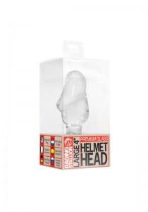 Glass Penis Helmet Head Plug - Clear