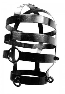 Head Cage, Large, Black Coated - Front