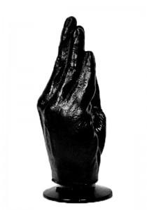 All Black AB13 Dildo - Front