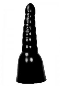 All Black AB17 Dildo - Front