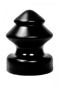 All Black AB55 Dildo - Front